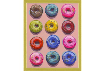 16X20 Dozen Donuts I With Gold Frame