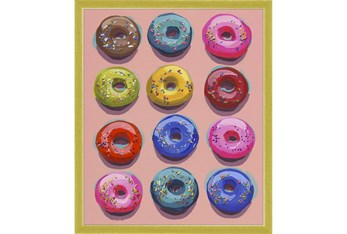 20X24 Dozen Donuts I With Gold Frame
