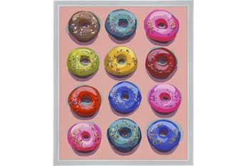 20X24 Dozen Donuts I With Silver Frame