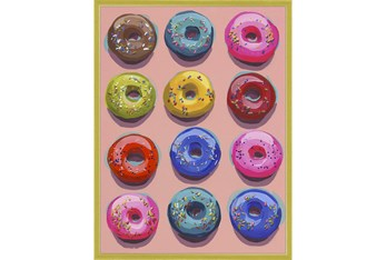 30X40 Dozen Donuts I With Gold Frame
