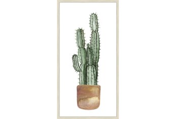 24X48 Tall Cactus With Brich Frame