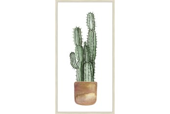 27X54 Tall Cactus With Brich Frame