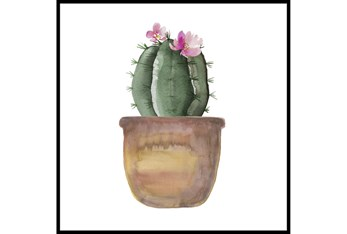 45X45 Blooming Cactus With Black Frame