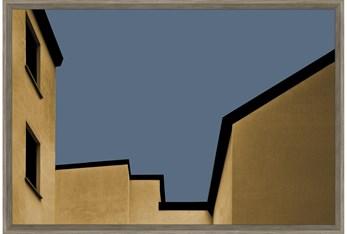 24X36 Yellow City With Walnut Frame