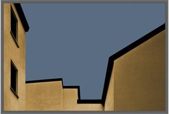 36X54 Yellow City With Dark Grey Frame