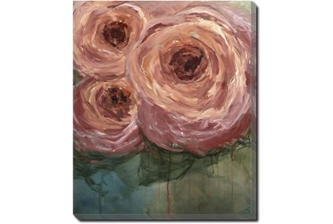 20X24 Blushing Blooms With Gallery Wrap Canvas