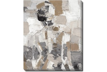 20X24 Tonal Abstract I With Gallery Wrap Canvas
