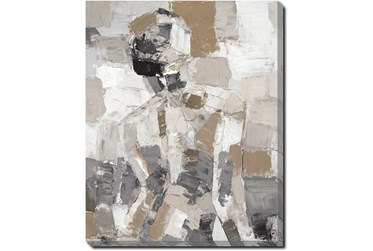 40X50 Tonal Abstract I With Gallery Wrap Canvas