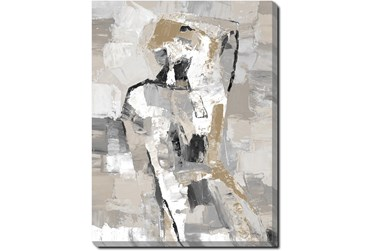 30X40 Tonal Abstract II With Gallery Wrap Canvas