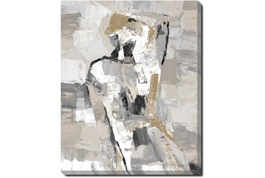 40X50 Tonal Abstract II With Gallery Wrap Canvas
