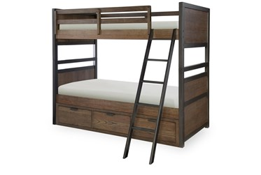 Fullerton Twin Over Twin Bunk Bed With Storage