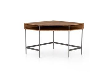 Popar + Iron Base Corner Desk