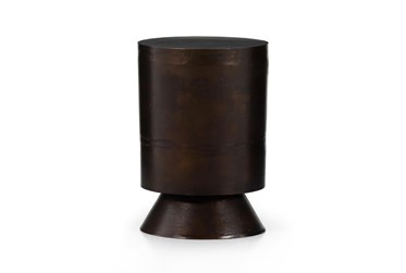 Antique Rust Aluminum Accent Table