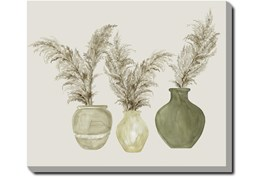 20X24 Pampas In Green Pots With Gallery Wrap Canvas