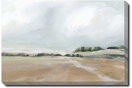 36X54 Peaceful Coast I With Gallery Wrap Canvas
