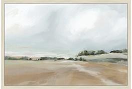 24X36 Peaceful Coast I With Brich Frame