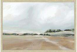 24X36 Peaceful Coast I With Champage Frame