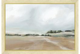 24X36 Peaceful Coast I With Gold Frame
