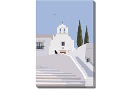 36X54 Santorini II With Gallery Wrap Canvas