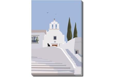 36X54 Santorini II With Gallery Wrap Canvas - Main