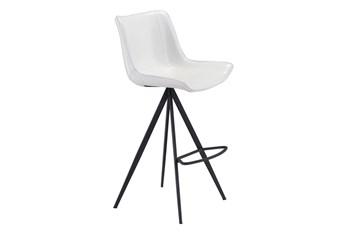 Aki White & Black Bar Chair