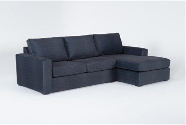 """Araceli Denim Blue 107"""" 2 Piece Sectional With Right Arm Facing Chaise"""