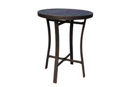 """Bedford Bronze Outdoor 32"""" Round Bar Table"""