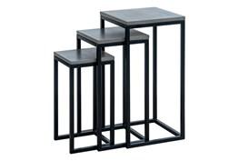 Malden Outdoor 3 Piece Concrete Nesting End Table Set