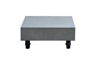 Malden Outdoor Concrete Coffee Table With Wheels