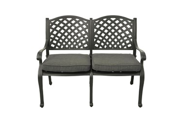 New Haven Desert Night Outdoor Bench With Olive Green Cushion