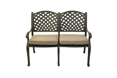 New Haven Desert Night Outdoor Bench With Sand Dollar Cushion