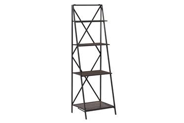 57X18 Black Metal Wall Shelf