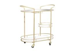 31X34 Gold Iron Bar Cart