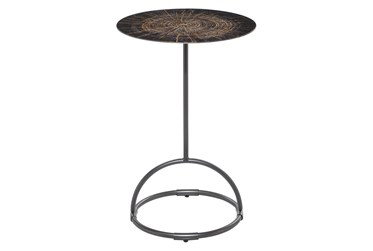 15X22 Black Iron Accent Table