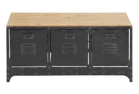 39X19 Black Chinese Fir Storage Unit - Main