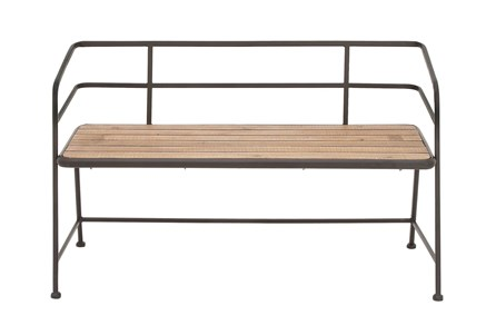 45X28 Black Iron Bench - Main