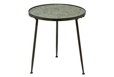 19X19 Black Iron Accent Table