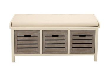42X20 White Wood  Storage Unit