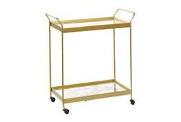 Gold Metal Bar Cart