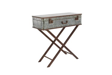 32X32 Grey Iron Accent Table