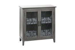 Grey Wood Cabinet
