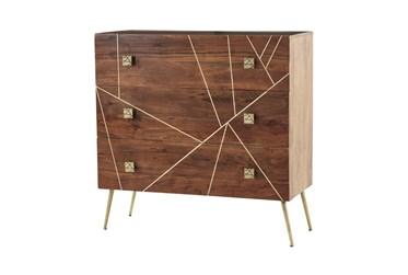 Brown Metal+Wood Cabinet