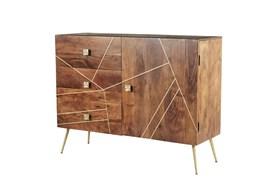 Brown Metal+Wood Buffet