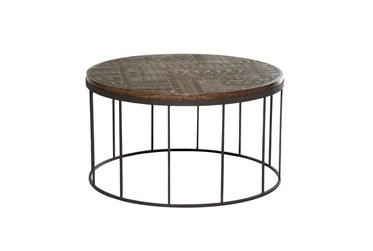 32X18 Brown Wood Coffee Table
