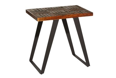 26X23 Multi Color Wood Accent Table