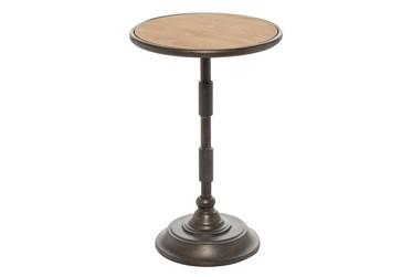 14X22 Multi Color Iron Accent Table