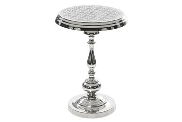 18X24 Silver Aluminum Accent Table