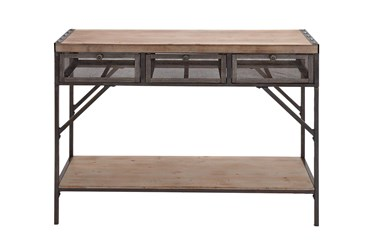 43X32 Brown Iron Console Table