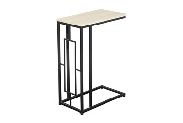 19X26 Black Iron Accent Table