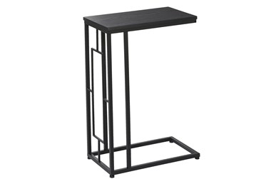 11X26 Black Metal Accent Table